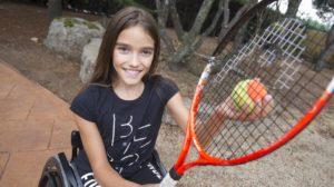 iraide jugando tenis